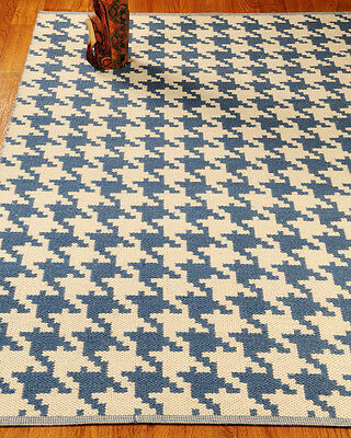 New Fine Hand Woven Winchester 100% Natural Dhurrie Wool Reversible  Rug 4'x6'