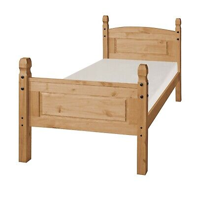 Corona Bed Frame 3ft Single High End Bedroom Solid Pine by Mercers Furniture®