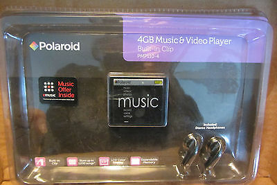 POLAROID 4GB MUSIC & VIDEO PLAYER-BUILT-IN CLIP -NEW IN BOX