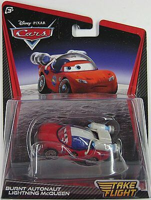 Disney Pixar Cars TAKE FLIGHT - BURNT AUTONAUT LIGHTNING MCQUEEN