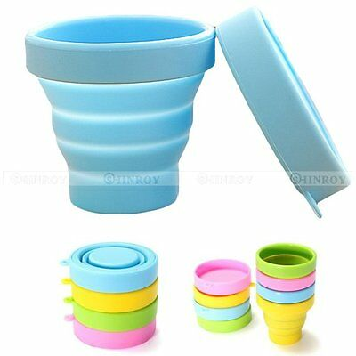 Portable Silicone Retractable Drinking Folding Cup Travel Telescopic Collapsible