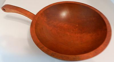 VINTAGE MORT N. MARTON M N M CANADA HAND CRAFTED WOODEN BOWL WITH HANDLE