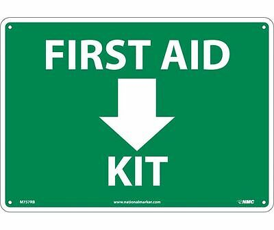 "NMC M757RB Safety Sign ""FIRST AID KIT"" with Graphic 10"" x 14"" Rigid Plastic"