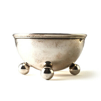 Antique Austro-Hungarian Silver Ball Footed Sweetmeat Dish, Circa 1872-1922