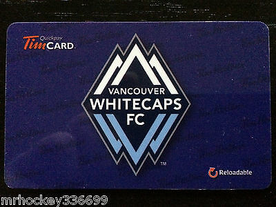 2014 MLS Vancouver Whitecaps FC (FD42336) Tim Hortons gift card 1st  MLS Issue