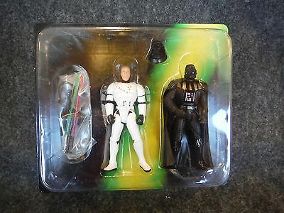 Parker Brothers Escape From The Death Star Action Figures Luke and Darth Vader