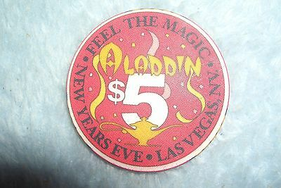 Aladdin $5 New Years Eve  Collector Gaming Chip