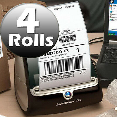 DYMO 4XL Direct Thermal Shipping Labels 4x6 ( 4 JUMBO rolls ) 1744907 compatible