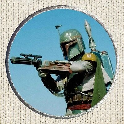 Boba Fett Patch Picture Embroidered Border Bounty Hunter Star Wars Han Solo