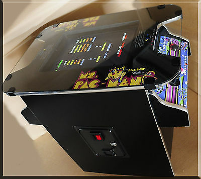 new multicade multigame cocktail arcade game ms pacman pacman galaga