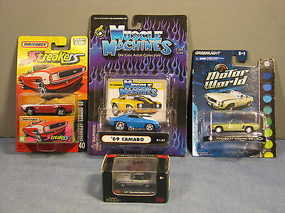 Mixed lot of 4 Die-Cast Camaro Cars Collectors Special! New In Box