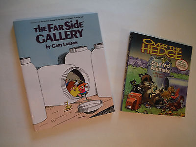 LOT THE FAR SIDE GALLERY 4 GARY LARSON & OVER THE HEDGE STUFFED ANIMALS BY FRY