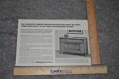 Vintage 1964 Magazine Print Ad MAGNAVOX Stereo w/KINGS MEN AFTER SHAVE LOTION ad