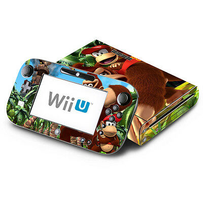 Donkey Kong Country Returns for Nintendo Wii U & GamePad Skin Decal Cover