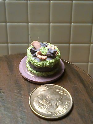 LITTLE CAKE MINI FOOD MAGNET HANDMADE POLYMER CLAY 1:12 SCALE