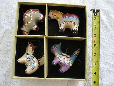 Hand Carved Wooden Animal Figures from Indonesia.  Can be used as ornaments