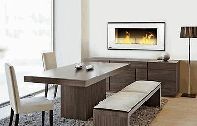 "44"" WALL/INSERT ETHANOL FUEL ST STEEL FIREPLACE, NO SIMS, PROTECTIVE GLASS"