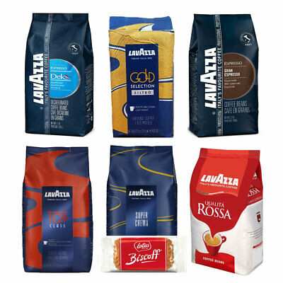 LavAzza Coffee/Espresso Beans - 14 Blends - Order 2 Packs get 50 Free Lotus Bisc