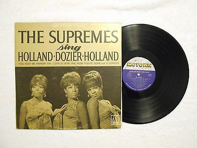 The Supremes SOUL/MOTOWN LP (Motown 650) Supremes Sing Holland-Dozier-Holland