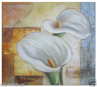 """Art Flowers Original Abstract Oil Painting Stretched Modern On Canvas 28""""x32"""""""
