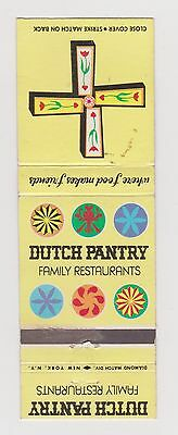 VINTAGE DUTCH PANTRY FAMILY RESTAURANT HEX SIGNS FOOD MATCHBOOK COVER