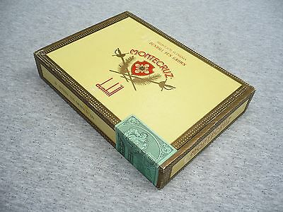 (TWO) for one price MONTE CRUZ dunhill & Shakespeare Belvedere cigar boxes.Clean