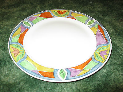 Oneida Majesticware Crystal Rose Diiner Lunch Plate 10½ Flowers