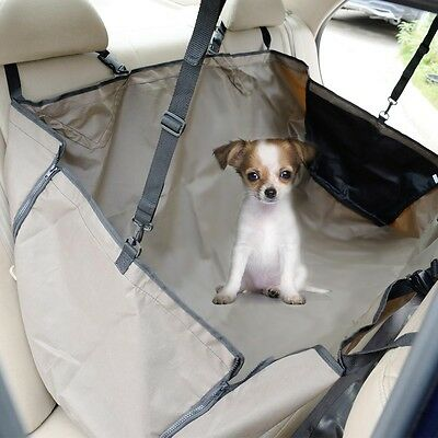 New Oxford Waterproof Pet Dog Cat Car Back Seat Cover Travel Hammock Coffee