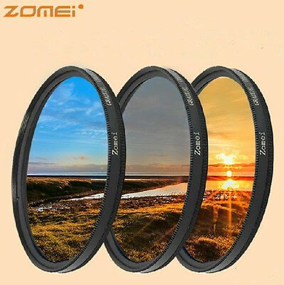 58MM graduated gradual grey ND4 + BLUE+ORANGE filter for camera lens canon nikon