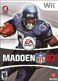 Madden NFL 07 (Nintendo Wii, 2006) COMPLETE - DISC IS MINT