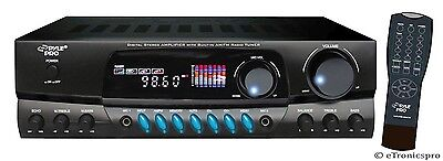 PYLE PRO 200 WATTS DIGITAL AM/FM RADIO HOME STEREO RECEIVER AMP AMPLIFIER PT260A
