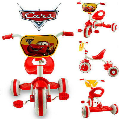 Disney Car Pixar Mcqueen Bike Trike Tricycle Toddler Kid Boy 3 Wheel Ride On Toy