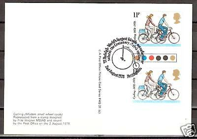 # Cycling Radfahren Post Office Picture Card PHQ Nottingham 02.08.78