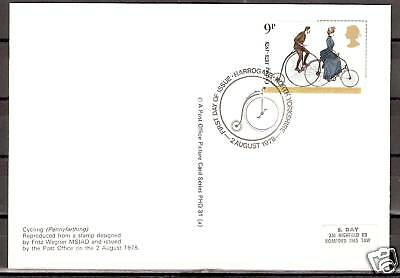 # Cycling Radfahren Post Office Picture Card PHQ FDC Harrogate 02.08.78
