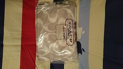 Coach Signature Nylon Packable Weekender 77571 Silver Gray Dream C$148