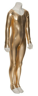 Girls All Colours Metallic Halloween Fancy Dress Long Sleeve Catsuit KDC012