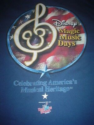 DISNEY Vintage t-shirt MAGIC MUSIC DAYS XL Mickey Walt World Blue Authentic