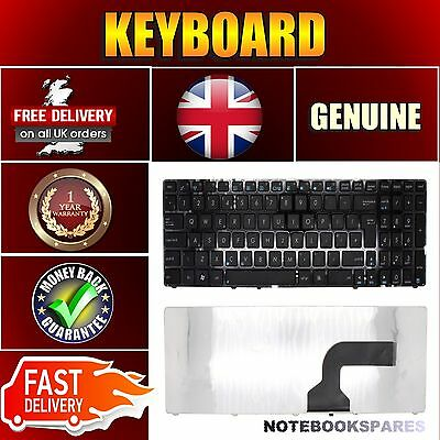 New Asus X55A Notebook Laptop Keyboard Uk With Frame Black