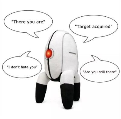 "New Portal 2 Aperture Science Talking Stuffed Plush Turret w/ Sound 14.5"" Tall"