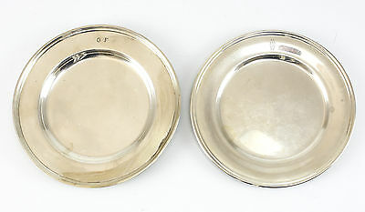 2pc S. Kirk & Son Inc Sterling Silver Bread & Butter Plates Hand Chased 8toz