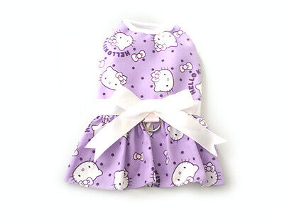 Pet Dog Clothing Harness Dress Small