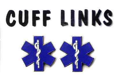 Classic Star of Life (EMT) Cuff Links