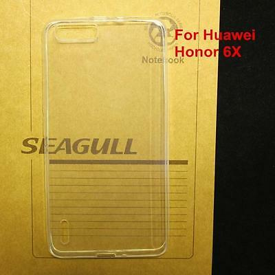 0.3mm Ultra Thin Crystal Clear Soft TPU Case For Huawei Honor 6X Shockproof Skin