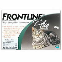 Merial Frontline Plus Flean & Tick 3 Pack For Cats