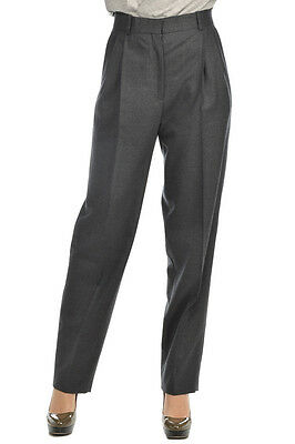 CELINE New Woman Authentic Gray Pants Trousers Sz 40 ITA Italy Made Sales Offers