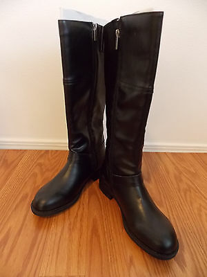 NEW Womens Kenneth Cole Reaction Black Tall Zip Up Riding Boots Size 8