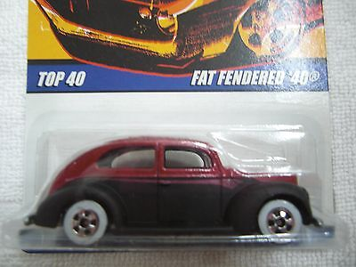 hot wheels since 68 series fat fendered 40 whitewalls #24/40 ship max $12
