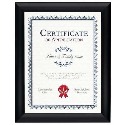 Black Poster Snap Frame 8.5 x 11 - Front Loading 1 Inch Width Aluminum