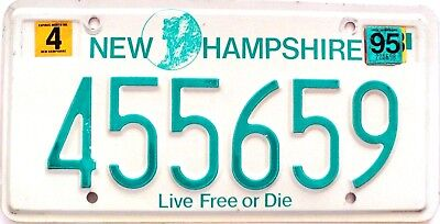 1995 NEW HAMPSHIRE Live Free or Die license plate # 455659