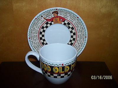 Mary Engelbreit Cup And Saucer Good Old Mom Tea Cup Set